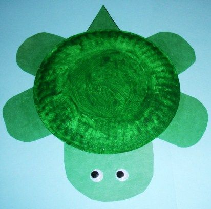 6/5/12 Paper Plate Turtle. Another super easy paper plate craft. :)