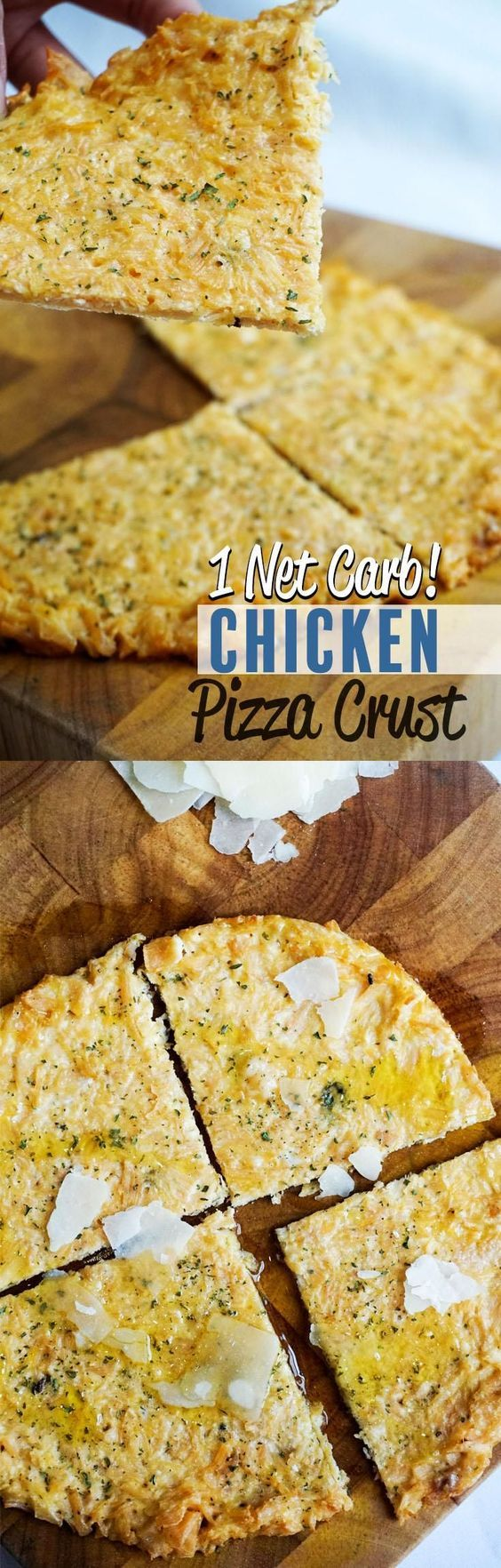 Low Carb Chicken Pizza! Actually, this pizza has only 1g of carbs and it's full of tasty ingredients. Thin, tasty, and suitable for keto and LCHF!