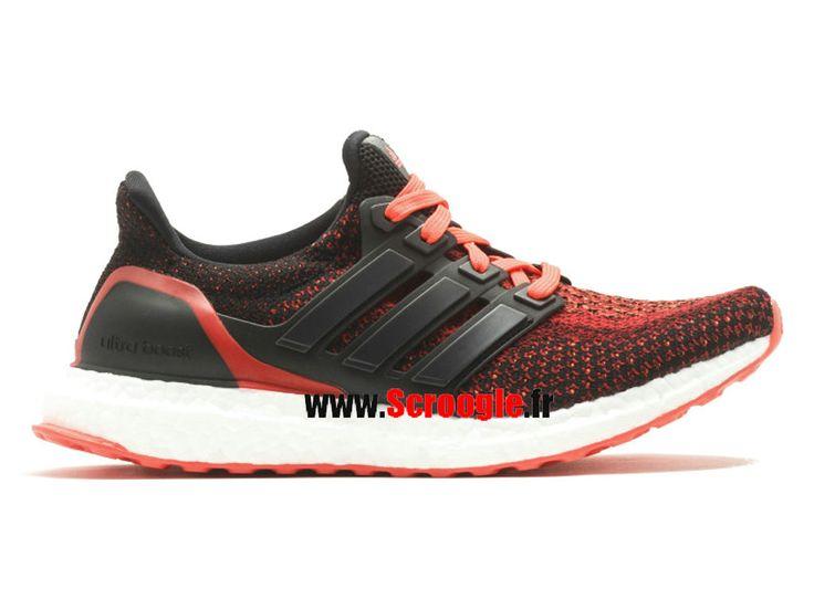chaussures de running pas cher pour femme adidas ultraboost j noir rouge blanc s