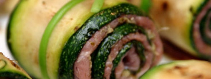 Courgette Carpaccio Rolls