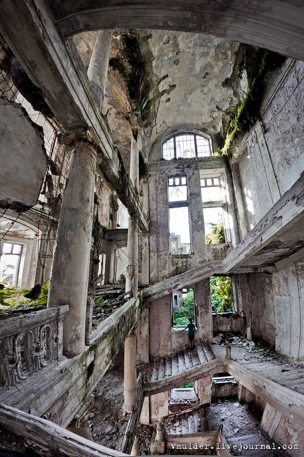 The abandoned Palace of Prince Smetsky built in 1913 - Abkhazia, Georgia.