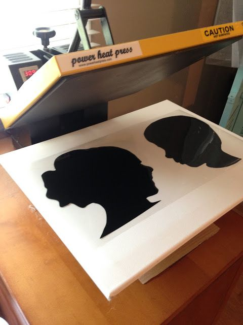 Heat Transfer Vinyl on (Stretched) Canvas: How to Apply with a Heat Press or Iron ~ Silhouette School