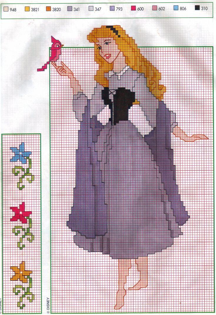 Sleeping Beauty  cross stitch pattern