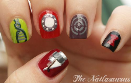 10 Images About Fandom Nail Art On Pinterest Galaxy Nails Sherlock Nails And My Nails