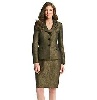 Le Suit® Animal Print Jacket with Skirt at www.carsons.com
