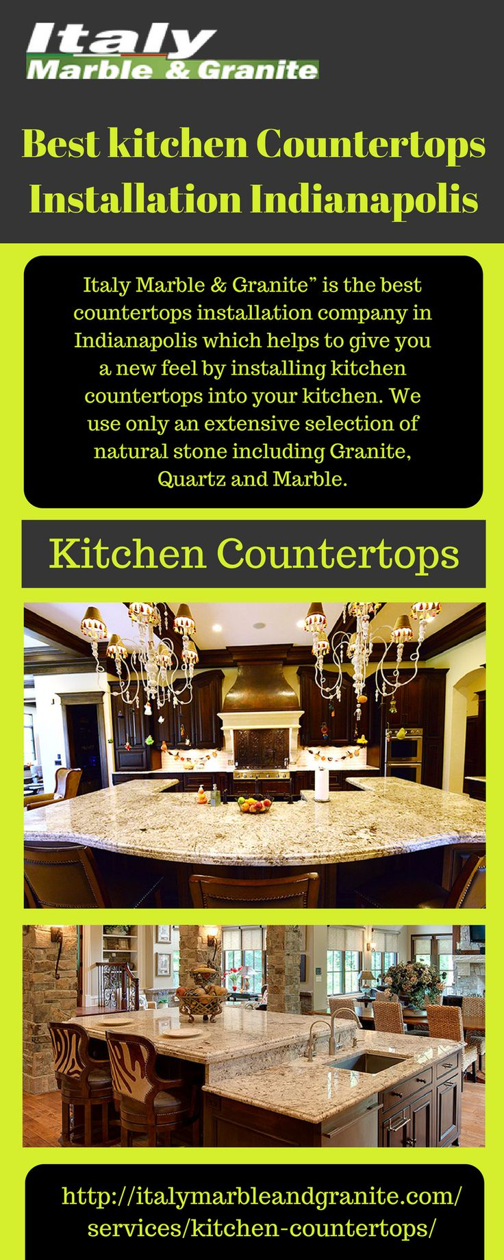 Want To Modernize Your House With Custom Kitchen Counters? Indianapolis  Granite Kitchen Countertops Specialist Italy Marble U0026 Granite Will Get You  Started!