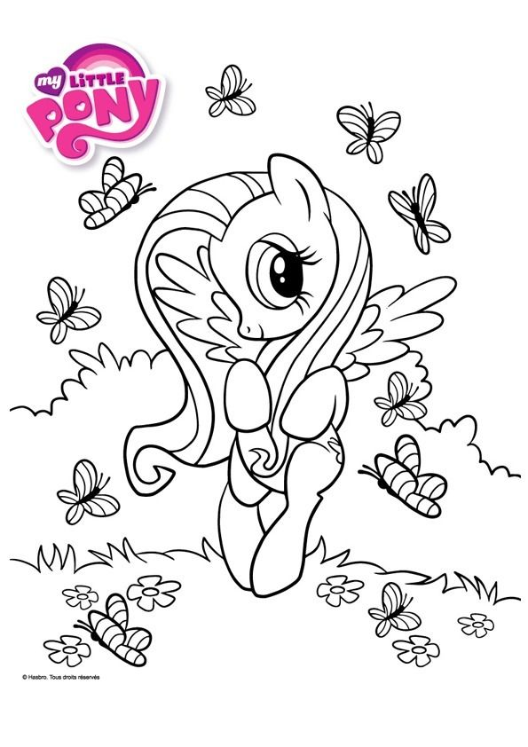 Coloriage My Little Pony Fluttershy My Little Pony Coloring