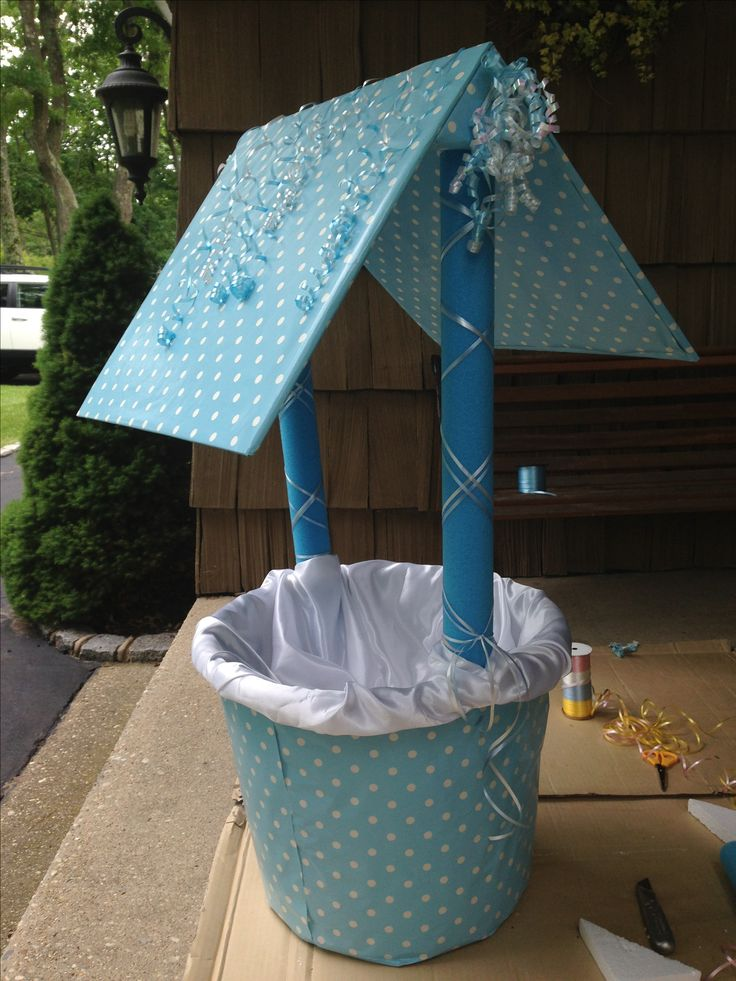homemade baby shower wishing well baby ideas pinterest satin