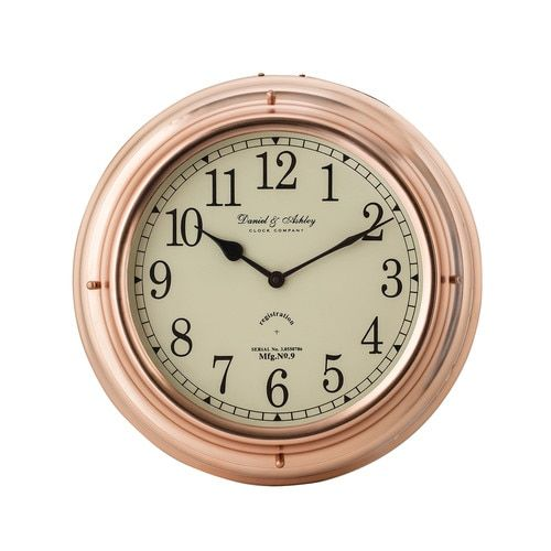 Polished Copper Nautical Clock - 8984-015