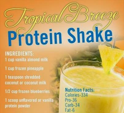 The perfect shake for a warm summer day! For more Juicing Recipes click the image and visit the link on the next page! #ProteinShake #JuicingRecipes #TropicalBreeze