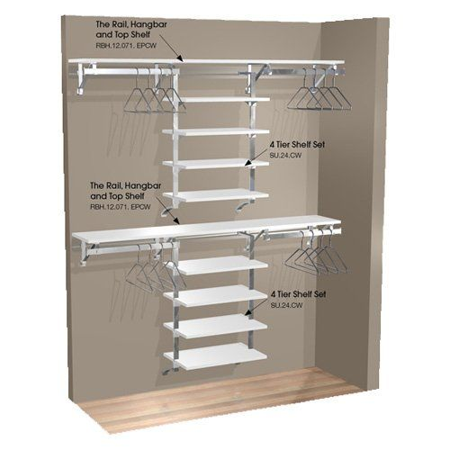Have to have it. Arrange A Space 71 in. Double Hang Wall Closet with 8 Shelves - $699.99 @hayneedle.com