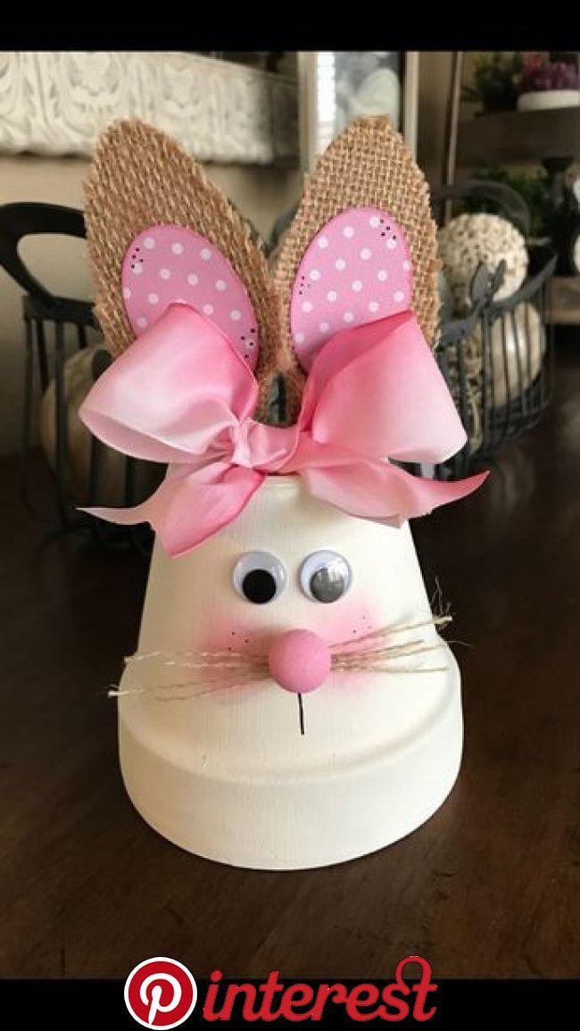 Bunny Flower Pot Easter Crafts Pinterest Easter Crafts