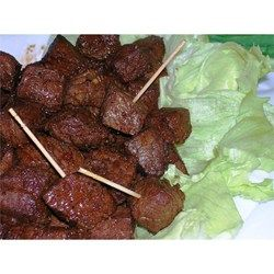 Fried cubes of seasoned beef sirloin are a South Dakota specialty. Traditional chislic is usually lamb or deer, but beef works too.