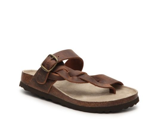 Women's White Mountain Crawford Flat Sandal - Brown