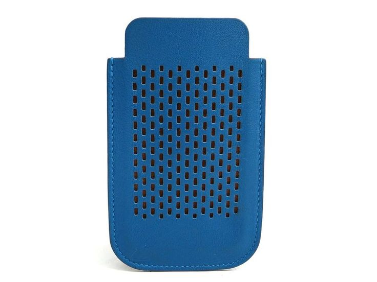 #HERMES Phone for 4/4S Smartphone Case Swift Leather Blue (BF114830). #eLADY global offers free shipping worldwide. For more pre-owned luxury brand items, visit http://global.elady.com