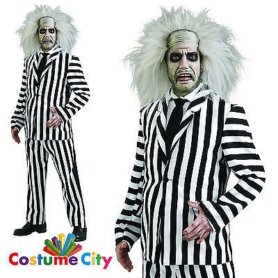 #Adults mens official deluxe beetlejuice #movie #fancy dress halloween costume, View more on the LINK: http://www.zeppy.io/product/gb/2/301986075532/