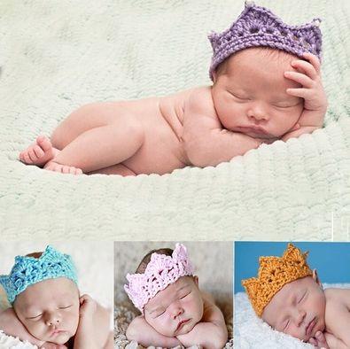 Newborn Baby Princess Hand-woven Crown Tiara Headband - babybomba
