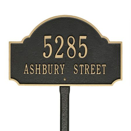 Display your house number in classic style with this for Classic house number plaque