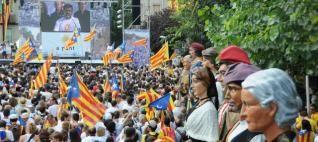 FOTOGALERIA: El batec independentista a Berga en imatges