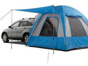 This intrigues me, a tent that can attach to the back of the CR-V.