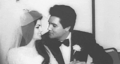 We lose sleep over it. We sleep better with it. It is (and should be) the furthest thing from a trend and yet it's the coolest, best, most fulfilling thing out there. LOVE. (Elvis and Priscilla Presley on their wedding day)