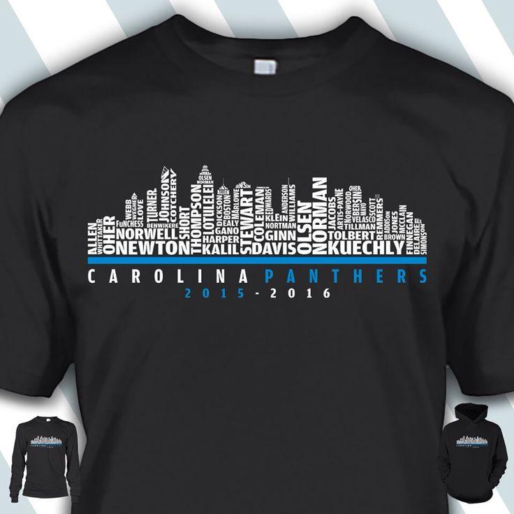 Carolina Panthers in Charlotte's skyline