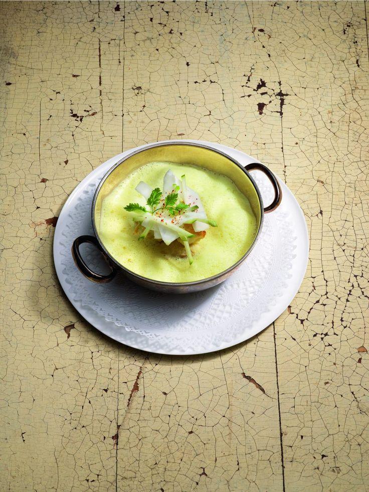 Lotte cuisinée en cocotte au curry de madras et risotto par Cyril Lignac
