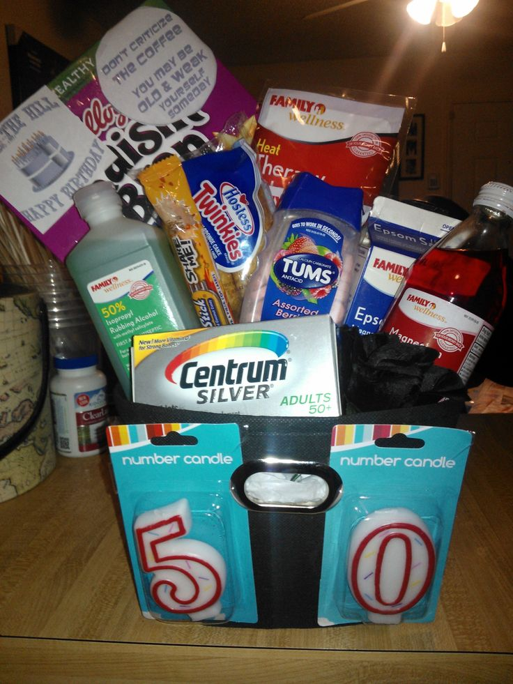 over the hill 50th birthday gag gift. Gifts for any and
