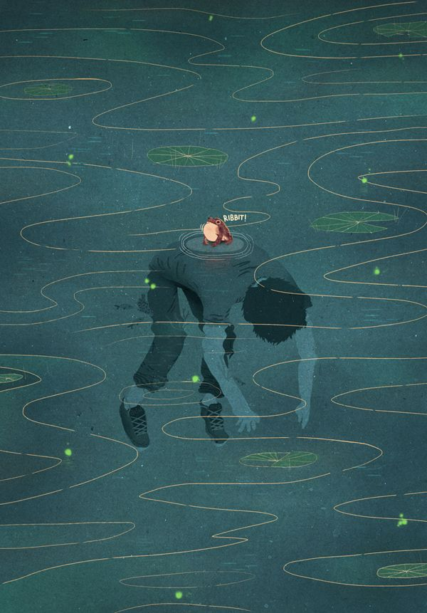 The Drowned by David Avendaño. Quite a disturbing subject for an illustration. The title doesn't refer to a single drowning, either.