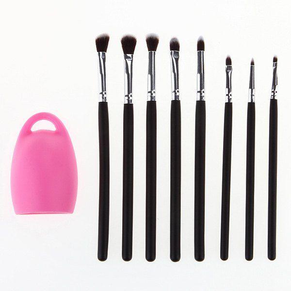 Beauty Tools 8 Pcs Eye Makeup Brushes Set with Brush Egg - COLORMIX