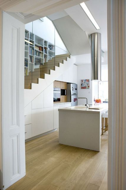 Kitchen under the stairs kitchen pinterest for Kitchen ideas under stairs