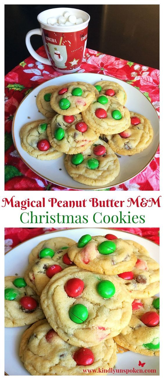 These Magical Peanut Butter M&M Christmas Cookies are the perfect, delicious treat to make and share with family and friends this holiday season!
