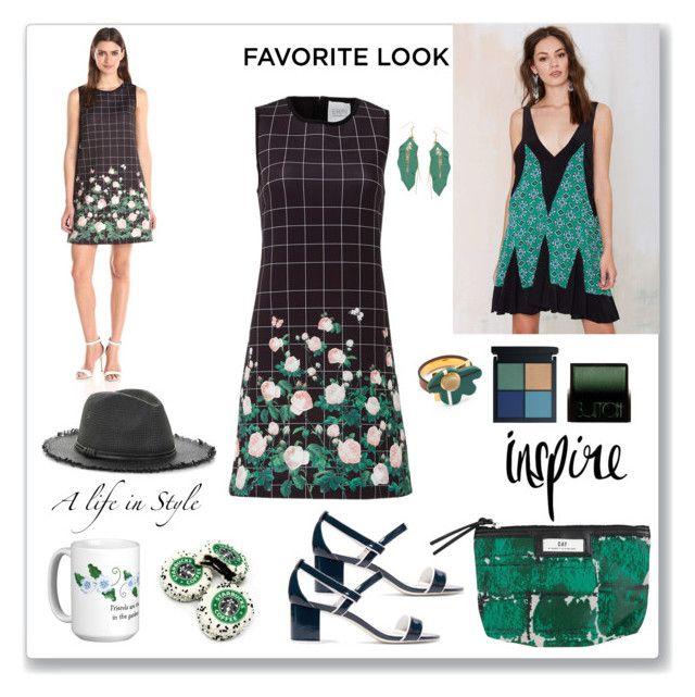 """Green Look"" by ludmyla-stoyan ❤ liked on Polyvore featuring Erin Fetherston, ERIN Erin Fetherston, Sandro, Balenciaga, Marni, Surratt, Topshop, BCBGMAXAZRIA, look and GREEN"