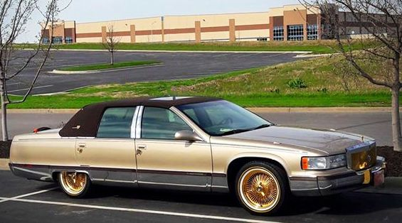 96 Fleetwood With 17 All Gold Dayton S And Vogue Tyres Thank You