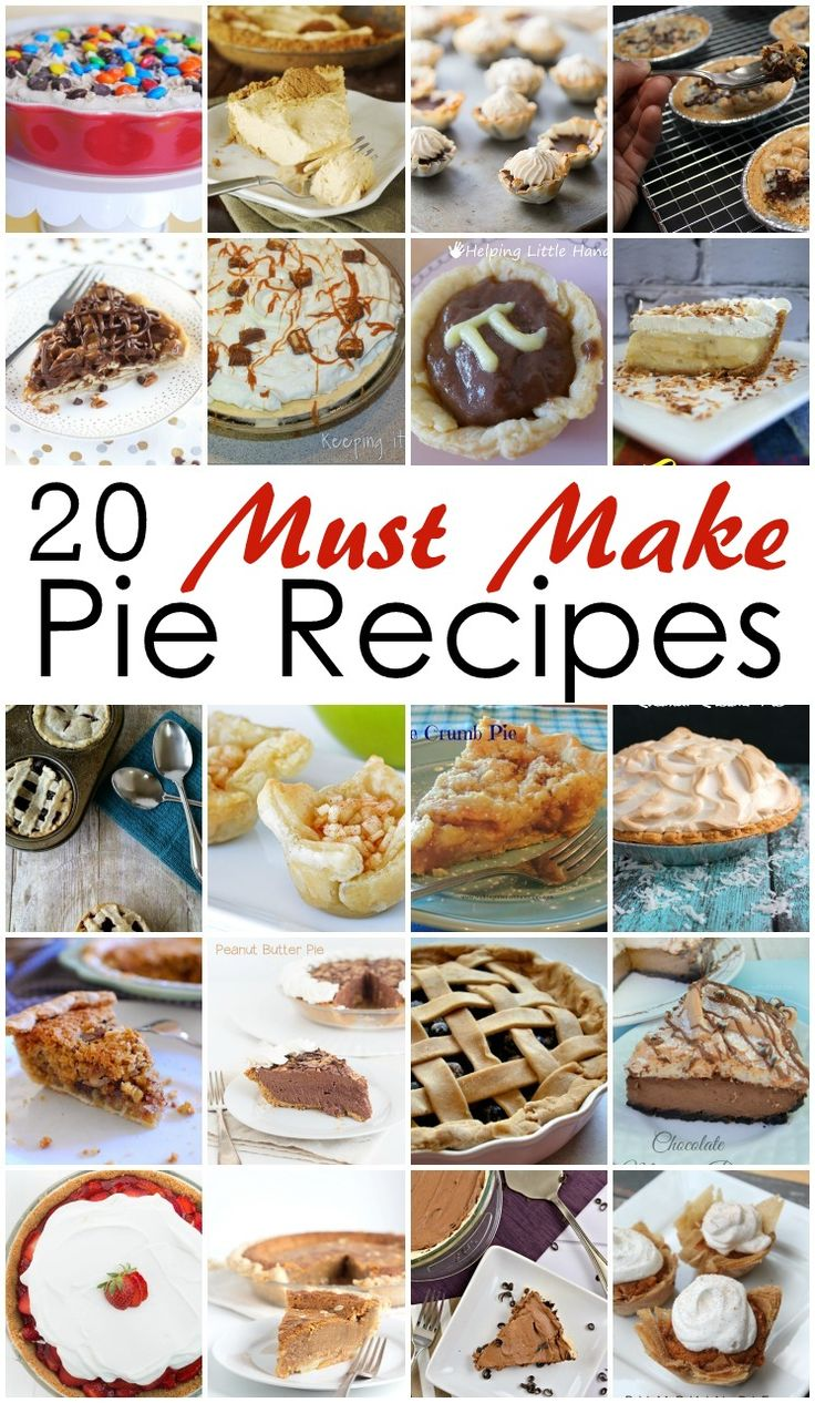 So many yummy pie recipes to try for Thanksgiving, Christmas, or Pi Day