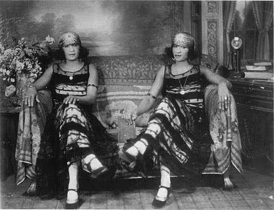 African American Twins 1920s photographed by James Van Der Zee