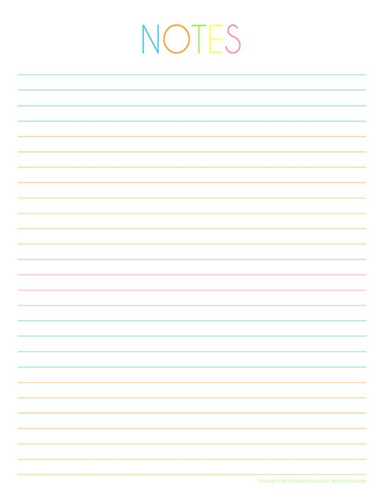 photograph relating to Printable Notebook Paper identify In direction of-Do Notes Printables adorable Laptop computer paper printable