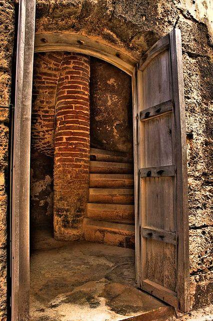 El Morro, Old San Juan, PR - spiral staircase that lead to
