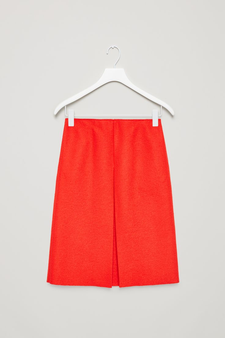 COS | Front pleat wool skirt