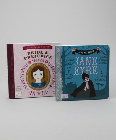 Most cultured baby on the block! Pride & Prejudice and Jane Eyre as board books. Published by Gibbs Smith.