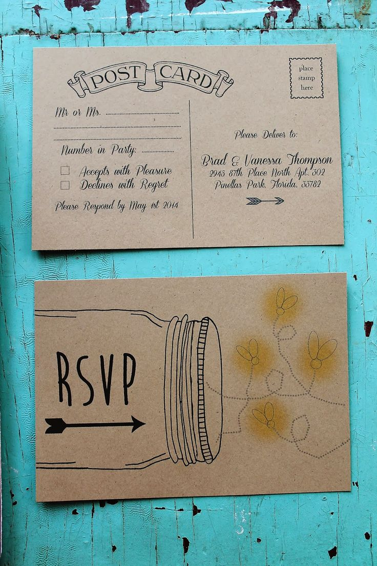 Country Rustic Wedding Invitation Design--- different design but love the concept simple