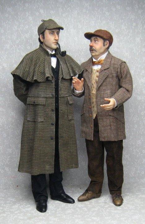 Sherlock and Watson by Sharon Cariola