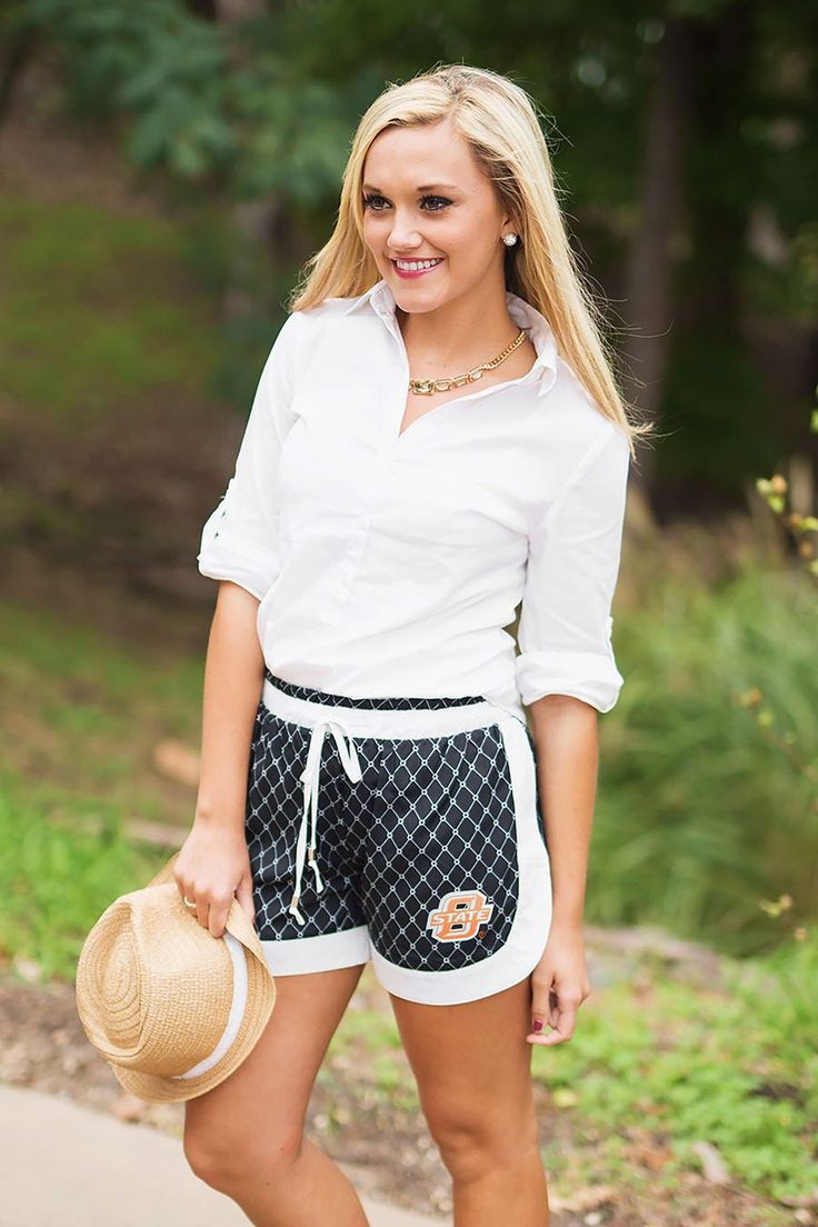 Oklahoma State Cowboys Chic On Repeat High Contrast Shorts