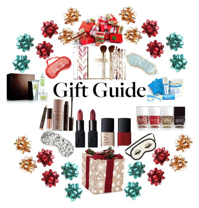 """""""holiday gift guide"""" by greensparkle1 ❤ liked on Polyvore featuring Nails Inc., Laura Mercier, NARS Cosmetics, Sephora Collection, claire's, H&M, giftguide, gift, nailpolish and holiday"""