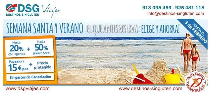 El que antes reserva: Elige y Ahorra. A la costa con DSG Viajes al mejor precio.