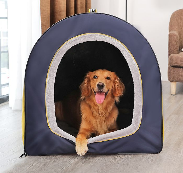 Best Pet Supplies Fleece Tent Covered Cat Dog Bed Tan X Large Chewy Com Pet Supplies Pet Bed Cover Pets