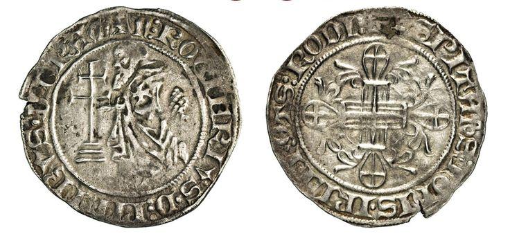 NumisBids: Numismatica Varesi s.a.s. Auction 67, Lot 483 : RODI ROGER DE PINS (1355-1365) Gigliato. D/ Il Gran Maestro...