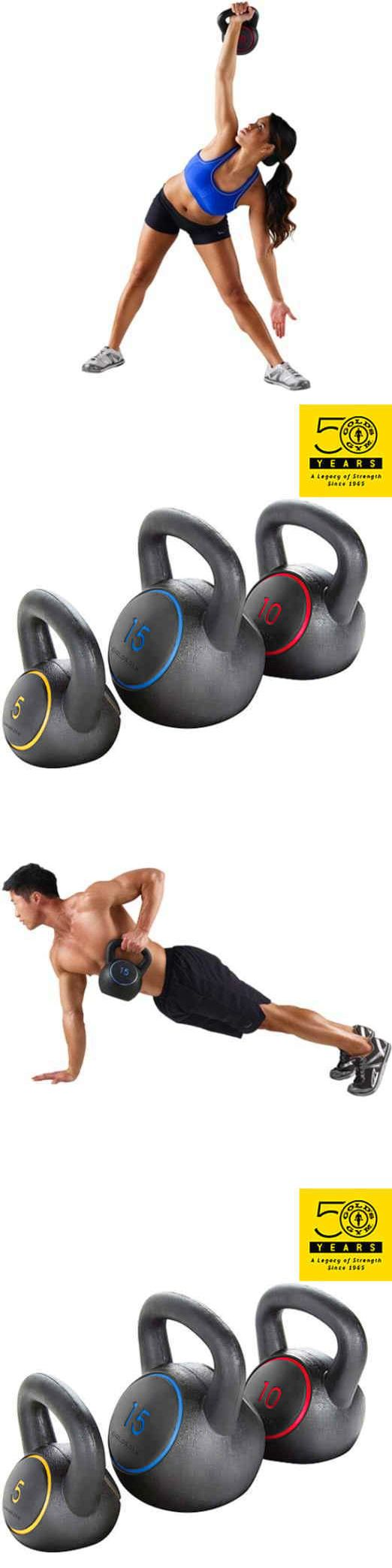 Kettlebells 179814: Golds Gym Kettlebell Kit Home Gym Strength Exercise Training Equipment Workout BUY IT NOW ONLY: $45.62