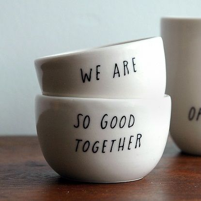 Sweet newlywed gift $56    http://www.pigeontoeceramics.com/shop/good-together-stacking-vessels/