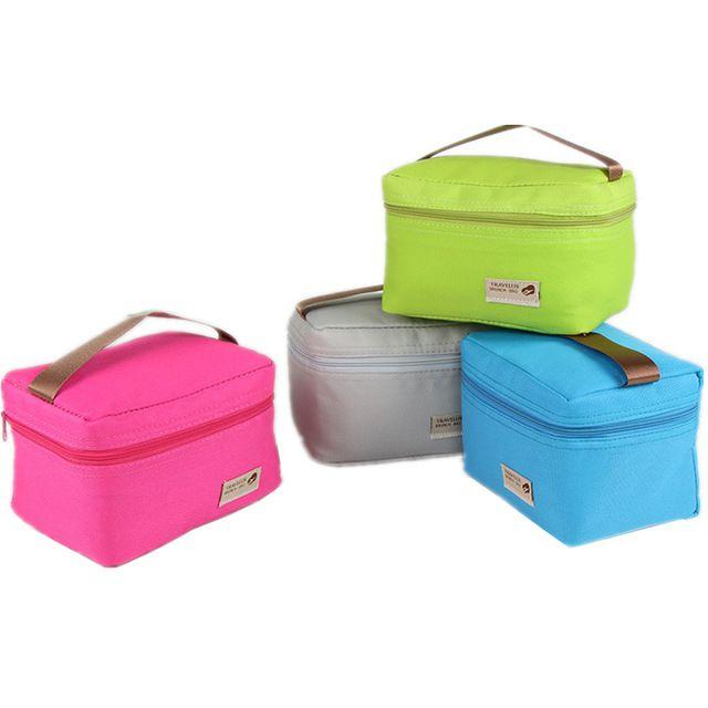 Prático Pequeno Refrigerador Portátil Sacos de 4 Cores de Nylon À Prova D' Água saco de Caixa Bento Almoço Saco do Piquenique Pacote de Lazer Comida Térmica saco